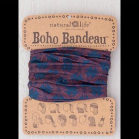 NATURAL LIFE Accessories - Natural Life Boho Headband Bandeau Red & Blue